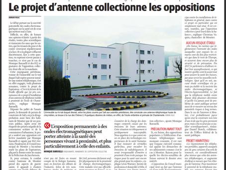 """""""Le projet d'antenne collectionne les oppositions"""" - Journal du Jura"""