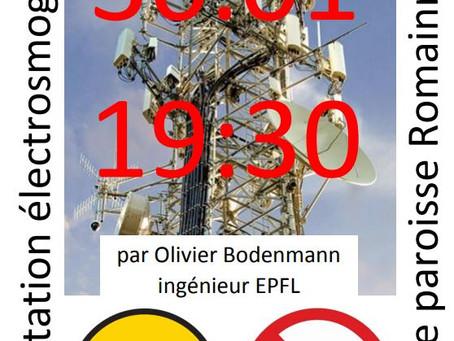 30.01.2020 : Conférence sur la 5G à Romainmôtier (19h30)