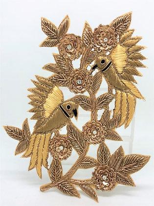 Sew On Lovebirds Nesting Patch