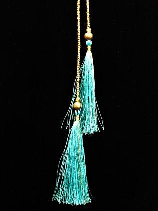 Turquoise Tassel Lariat