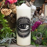 Coreterno Mystical Eye Pillar Candle