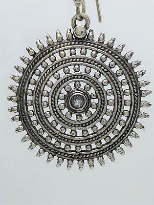 Moonstone Shield Earrings .925