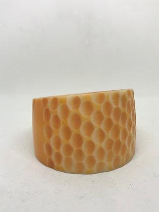 Carved Resin Bangle - Orange