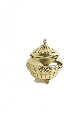 Brass Covered Candy Dish