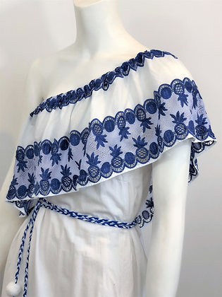 Santorini Broderie Anglaise Cotton Dress