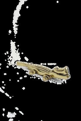 Brass Alligator Nutcracker