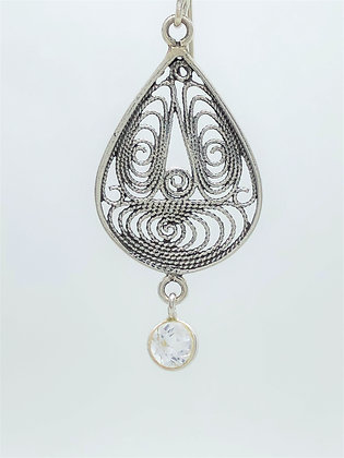 Swirl Tear Drop Earrings .925