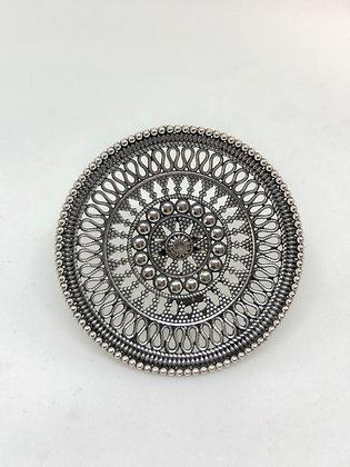 Chapati Medium Shield Ring .925
