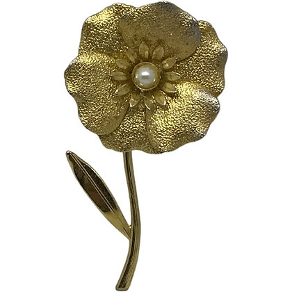 50s Flower Brooch