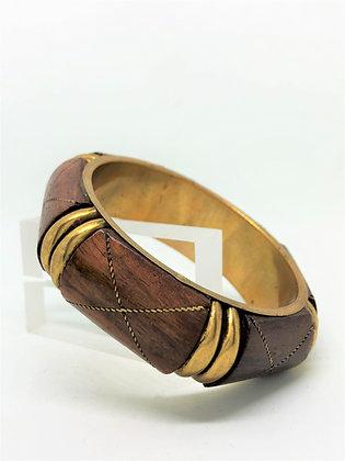 Walnut Brass Bangle