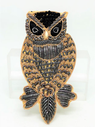 Sew On Owl Patch