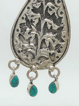 Tulip Turquoise Stud Earrings .925