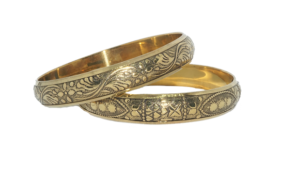 Brass Bangle set of 2