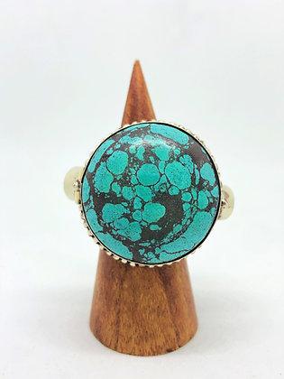 Poison Ring - Round Turquoise