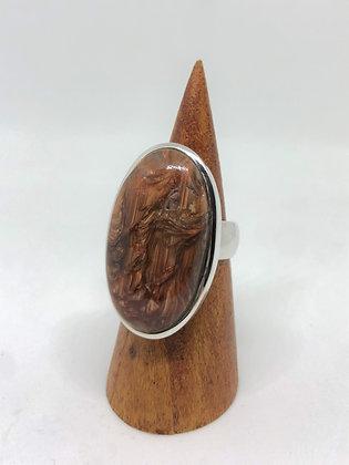 Petrified Wood Ring .925