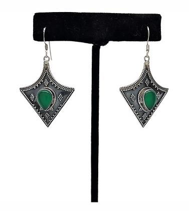 Aventurine Arrow Earrings .925
