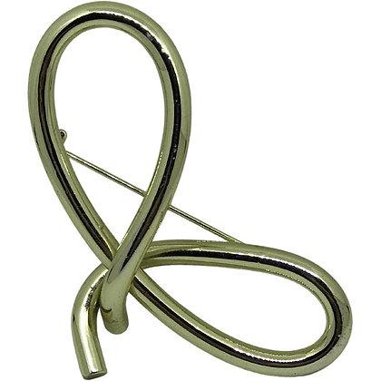 80s Brass Twist Pin