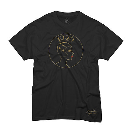 LOGO TEE BLACK AND GOLD