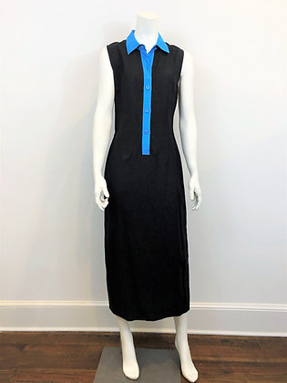 Black Sleeveless Linen Dress