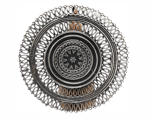 Chapati XL Star Disc Ring .925