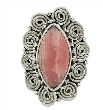 Wire Spiral Jasper Ring .925