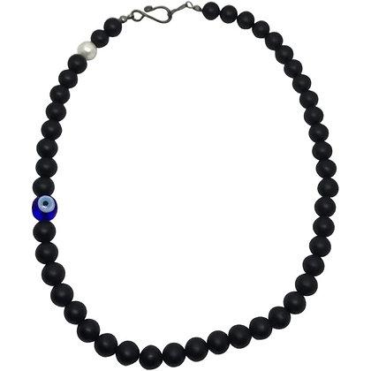 90s Hamsa Bead Necklace