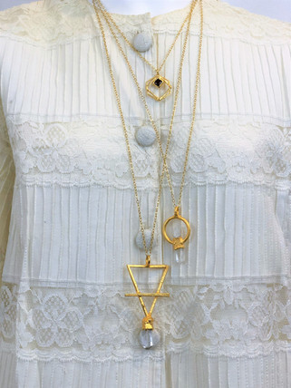 Assortment of Martha B. gold plated amulets and pendants