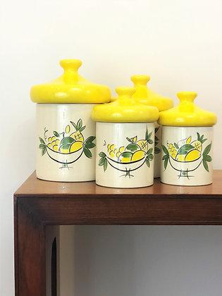 Sicilian Lemon Canister set of 4