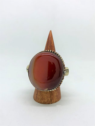 Poison Ring - Round Carnelian