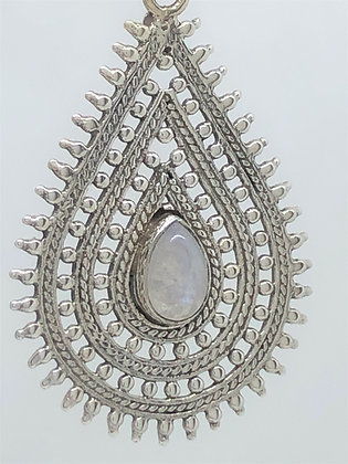 Moonstone Spike Teardrop Earrings .925