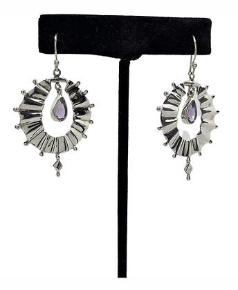 Amethyst Kite Earrings .925