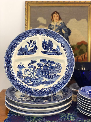Blue Willow Barbecue Plates