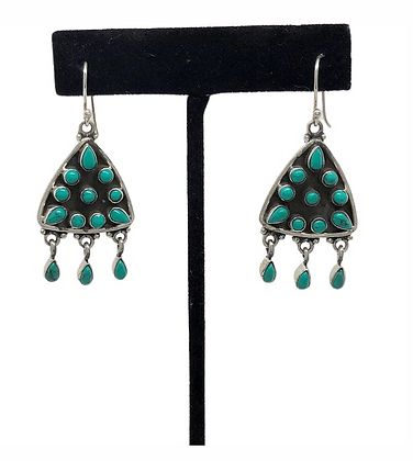 Turquoise Arrowhead Earrings .925