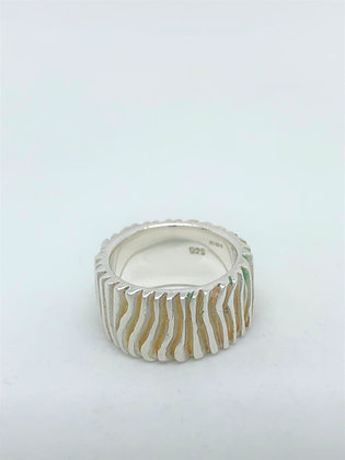 Tree Bark Ring .925