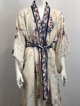 Sakura Dahlia Kimono Japanese Silk Kimono