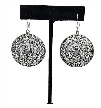 Moonstone Guard Your Heart Earrings .925