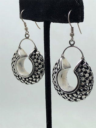Chainmail Collar Cuff Earrings .925