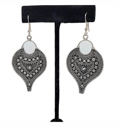 Filligree Spade Earrings .925