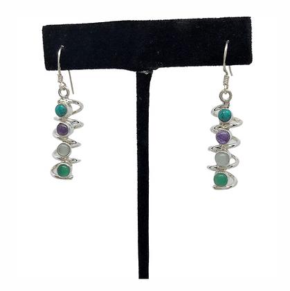 Corkscrew Earrings .925