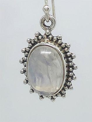 Moonstone Bead Earrings .925