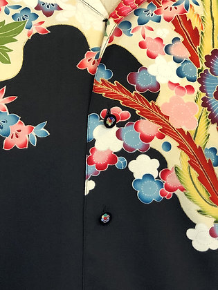 NYSOM Button Up Shirt Handpainted Floral