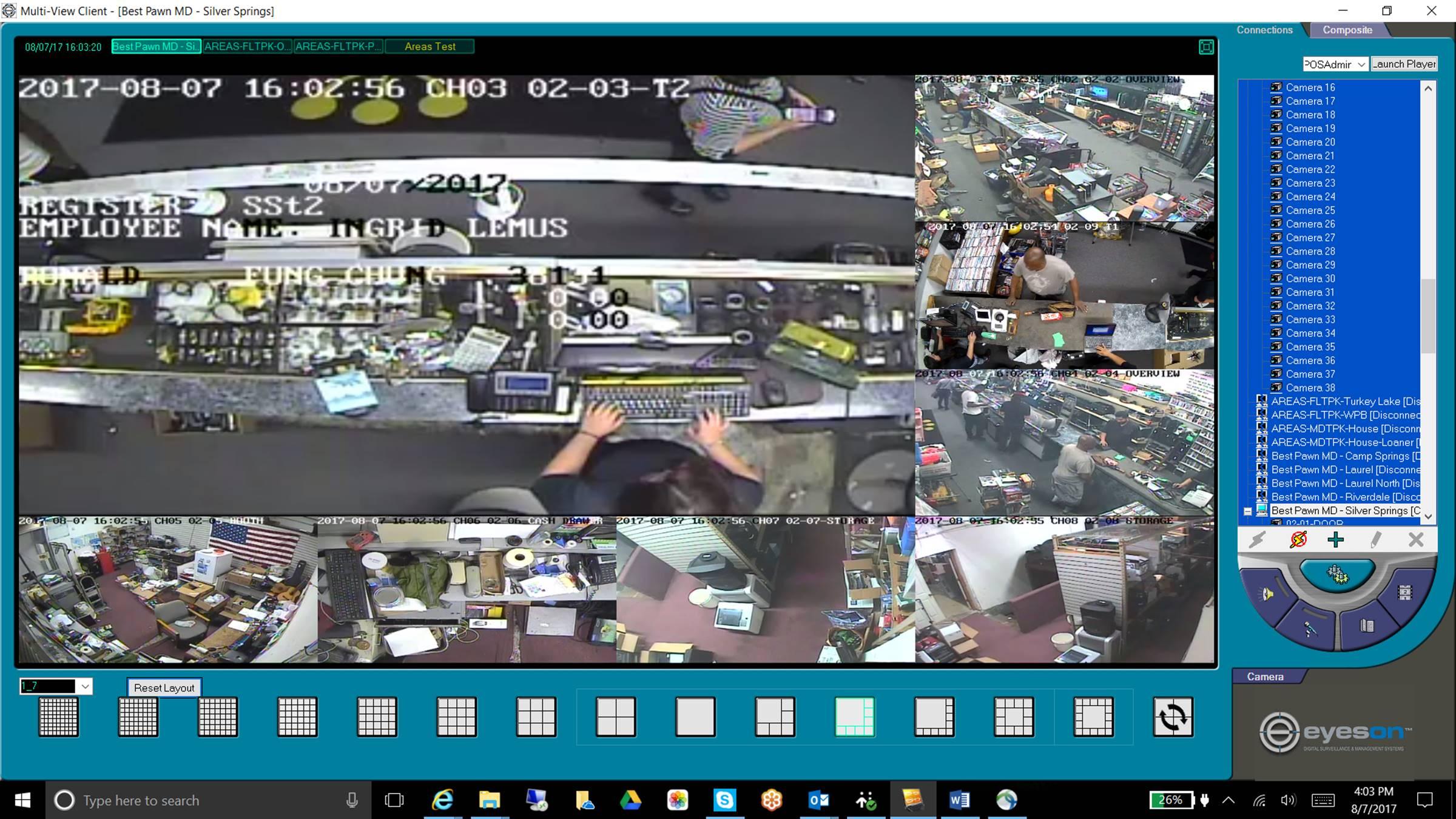 Video Surveillance Dashboard