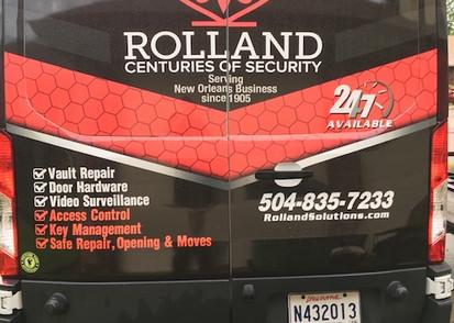 Rolland Safe and Lock Delivery Van Back