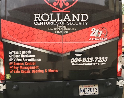 Rolland Safe and Lock Delivery Van Back