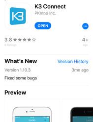 K3 Connect Phone App