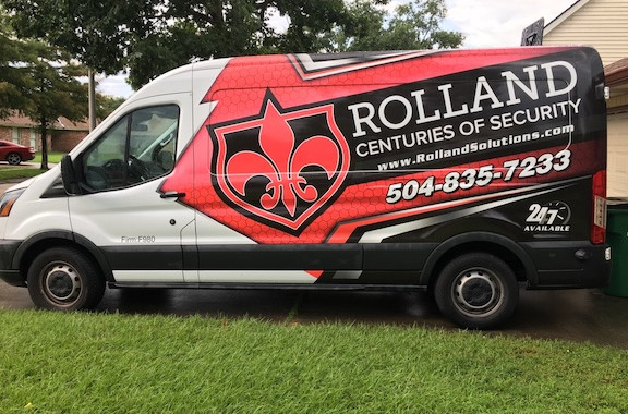 Rolland Safe and Lock Delivery Van Present