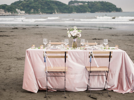 Romantic Beach Inspiration at Enoshima Island
