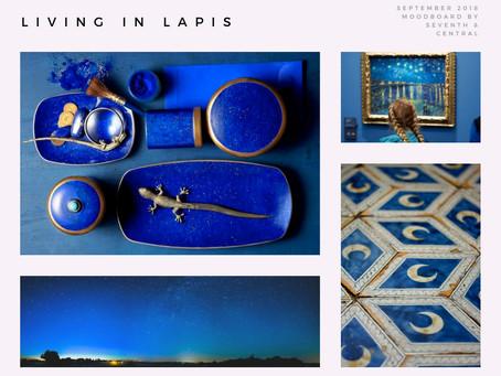 September Mood Board - Living in Lapis