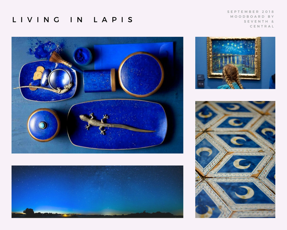 Seattle wedding planner, Seventh and Central, shares lapis lazuli wedding inspiration for Seattle brides planning 2019 weddings.