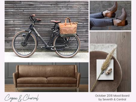 October Mood Board - Cognac & Charcoal